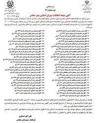 نتیجه انتخابات شورای اسلامى شهر سلماس